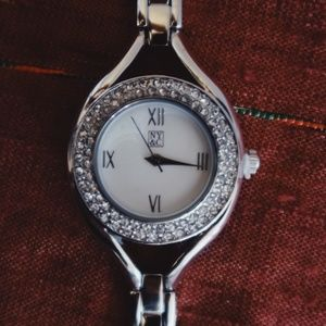 NY & Co Silver Watch w/ Sparkle Accent